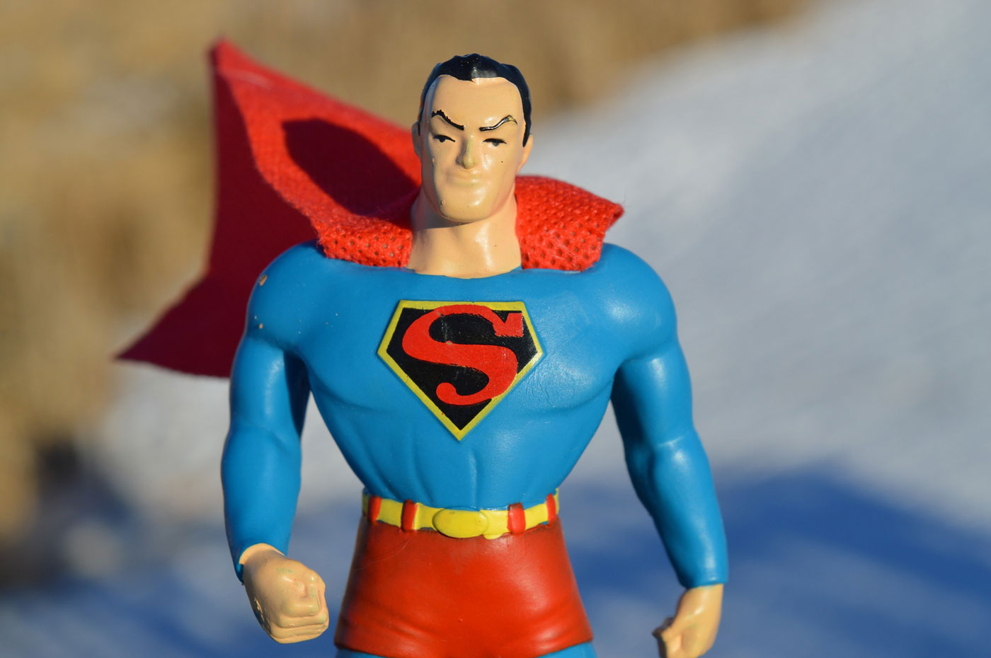 Superman character for super performance