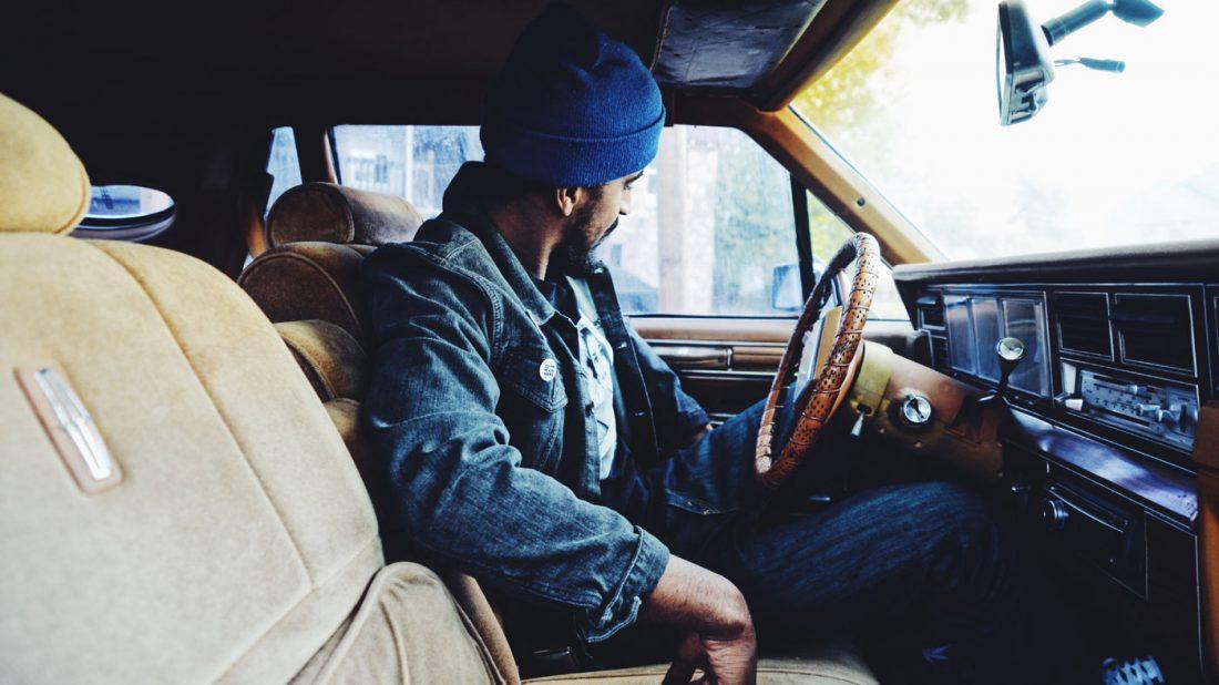 Man cruising in his car