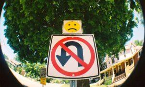 no turning sign