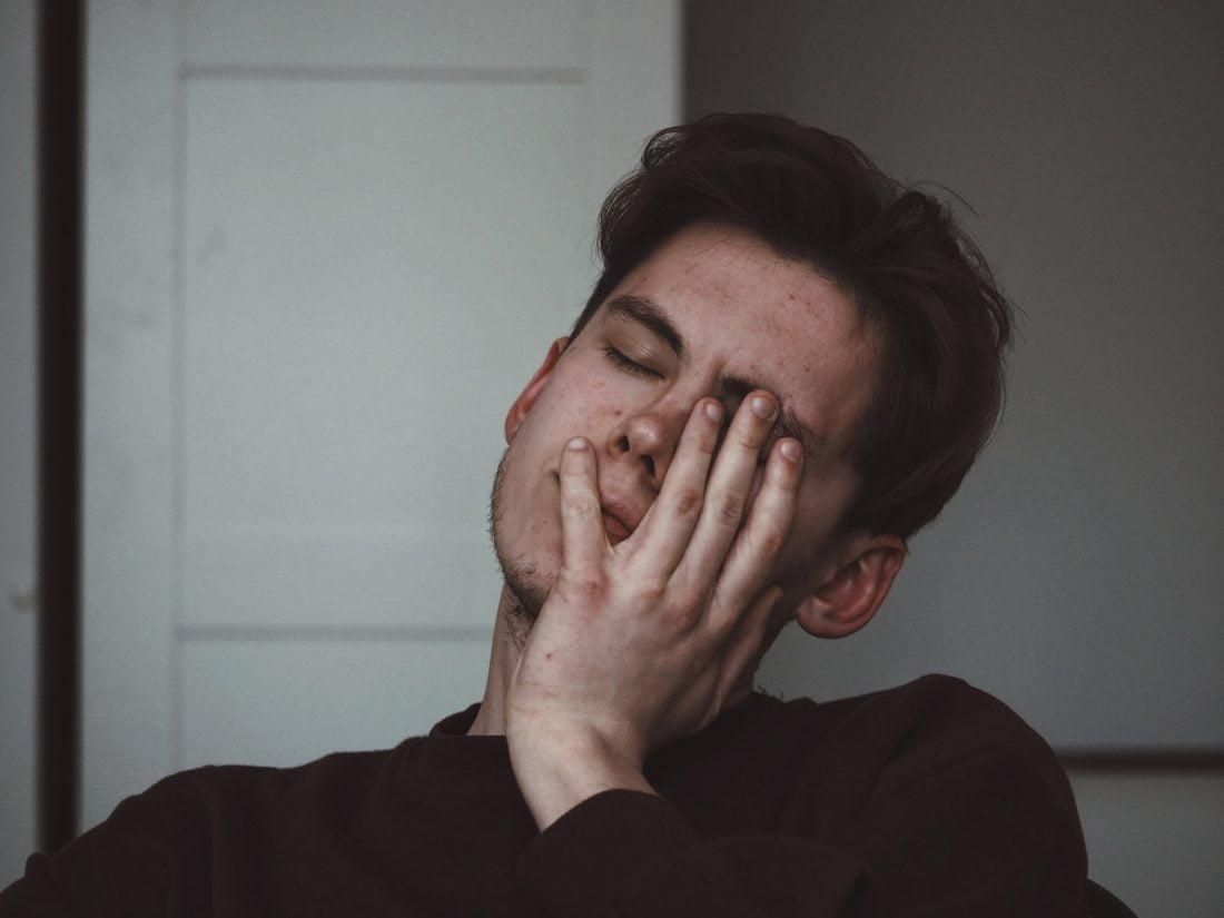 Anxious and worried man