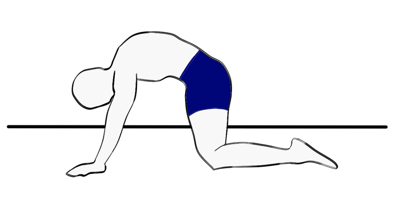 Premature ejaculation movement exercise: with rounded back