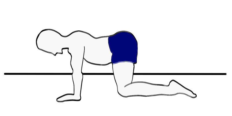Premature ejaculation movement exercise: with arched back